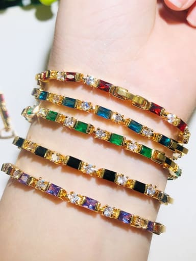 Copper With Gold Plated Fashion Geometric Bracelets