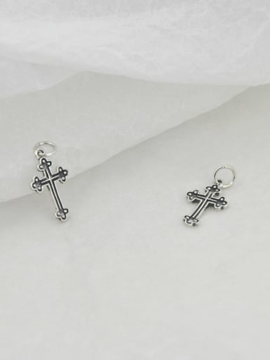 Vintage Sterling Silver With  Simple Retro  Cross Pendants