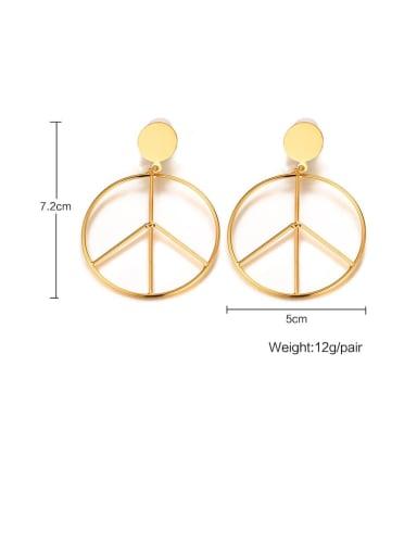 Stainless Steel With Simple Hollow Geometry Drop Earrings