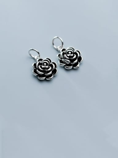 925 Sterling Silver With Minimalist Flower Pendant Diy Jewelry Accessories
