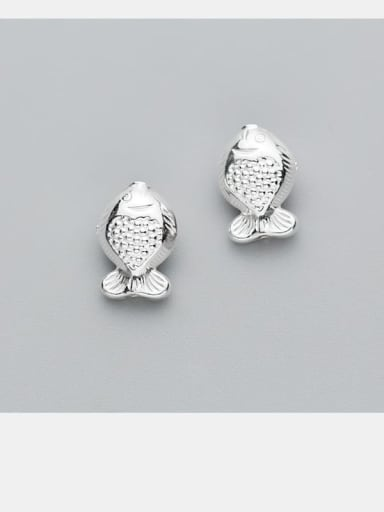 925 Sterling Silver With Fish Beads DIY Jewelry Accessories