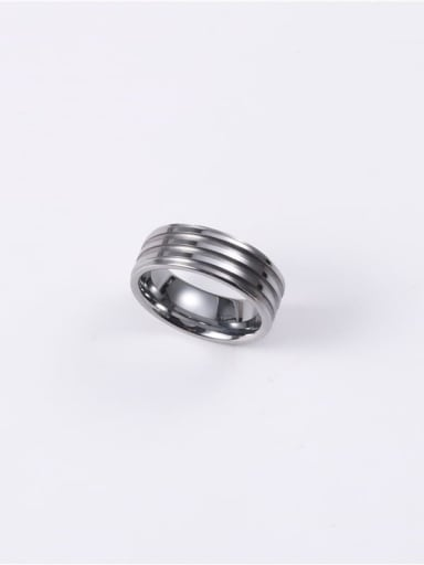 Titanium With Gun Plated Simplistic Irregular Band Rings