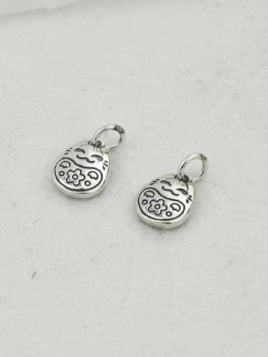 Vintage Sterling Silver With Simple Retro Oval DIY Accessories