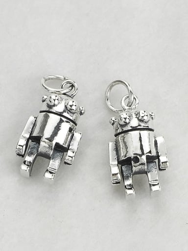 Vintage Sterling Silver With Vintage Robot Pendant Diy Accessories