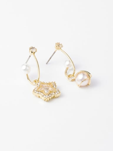 Alloy With Imitation Gold Plated Fashion Irregular Drop Earrings