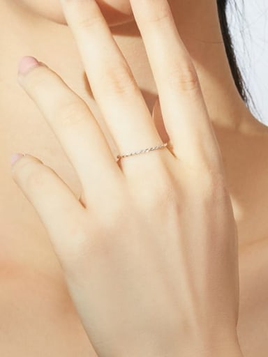 925 Sterling Silver With White Gold Plated Minimalist Band Rings