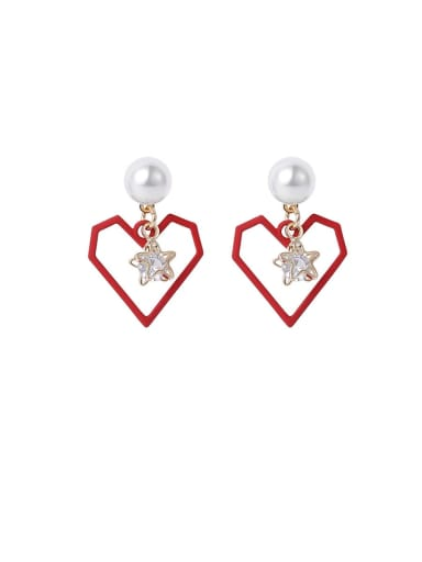 Alloy With Imitation Gold Plated Simplistic Drop Earrings