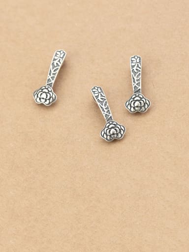 925 Sterling Silver With Vintage Flower Pendant DIY Jewelry Accessories