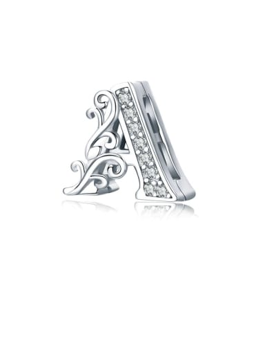 925 Sterling Silver With Fashion Letter A Pendant DIY Accessories