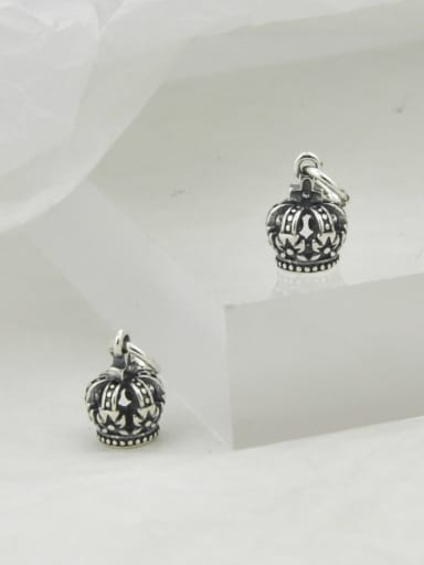 Vintage Sterling Silver With Simple Retro Crown  Pendants