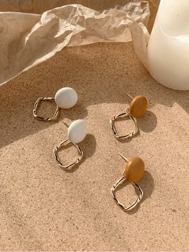 Alloy With Imitation Gold Plated Simplistic Geometric Drop Earrings