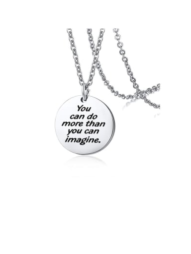 Stainless Steel With Minimalist round card Necklaces
