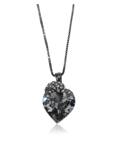 Heart-shaped crystal snake Swarovski element crystal necklace