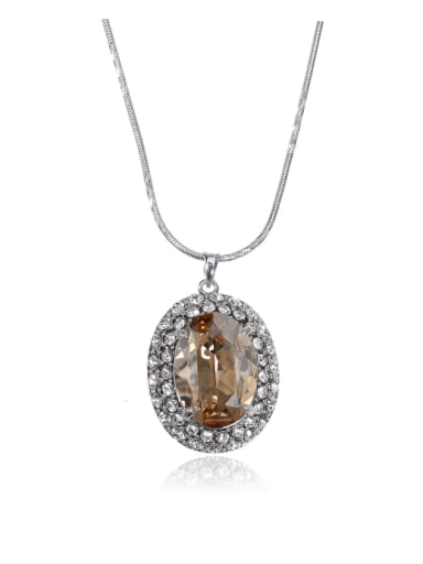 Bling bling oval Swarovski element crystal necklace
