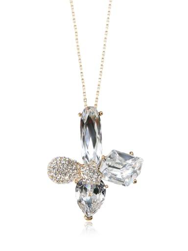 Luxury Cross crystal Swarovski element crystal necklace