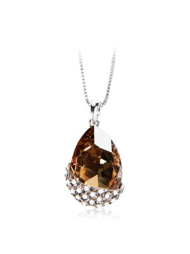 Droplet type  SWAROVSKI element crystal necklace