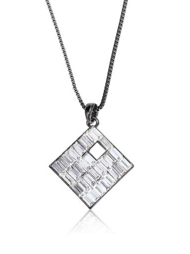 Square Crystal Personality  shape Rhinestone Swarovski element crystal necklace