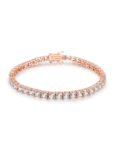 Copper With Four-jaw inlay 5MM Cubic Zirconia tennis Bracelets