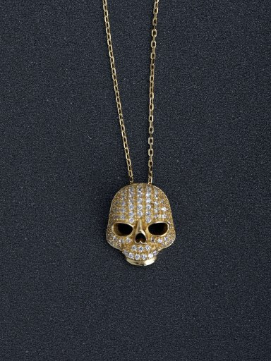Deluxe drills Skull 925 silver necklaces