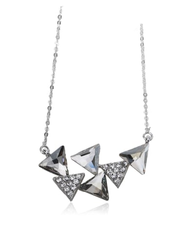 Unique triangle crystal Swarovski element crystal necklace
