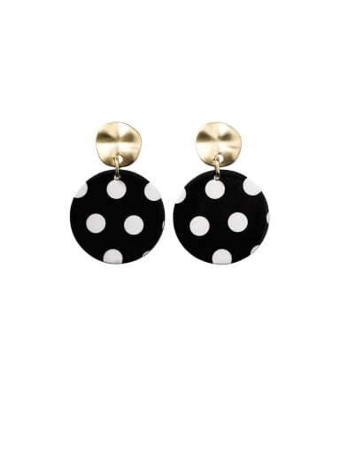 Alloy With Imitation Gold Plated Fashion Round Chandelier Earrings