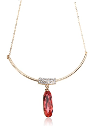 Simple and elegant  Swarovski element crystal necklace Multi-color optional