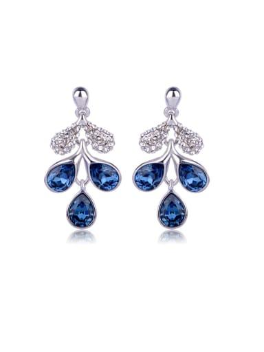 Drop-shaped crystal Leaves Swarovski element crystal Earrings