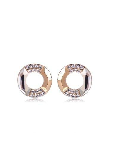 Satellite stone Round Swarovski element crystal Earrings
