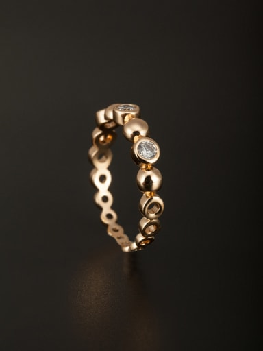 A Copper Stylish Zircon Ring Of  Combination of the ring