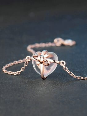 Lovely Heart-shaped Accessories Silver Bracelet