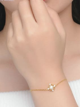 Simple Style Square Shaped Accessories Freshwater Pearl Bracelet