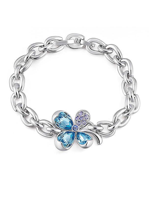 2018 Clover Shaped Crystal Bracelet - Wholesale Online