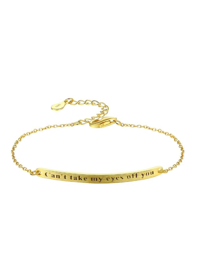 Sterling silver simple lettering bracelet