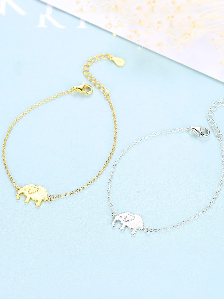 925 Sterling Silver  Cute elephant Bracelets