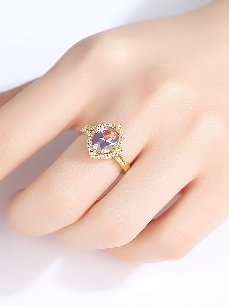 925 Sterling Silver  Cubic Zirconia Delicate Oval Solitaire Rings