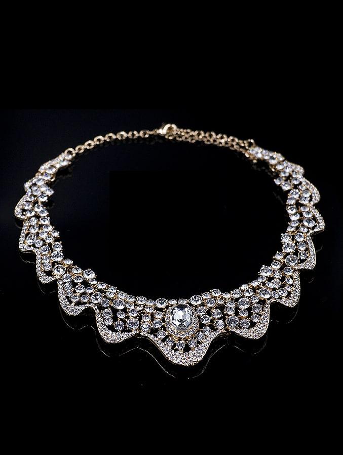 2018 2018 Cubic Glass Rhinestones Two Pieces Jewelry Set