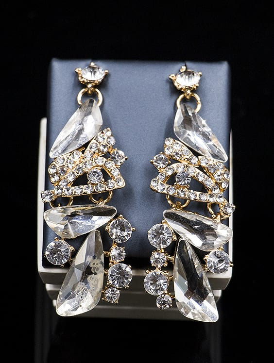 2018 Irregular Glass Rhinestones Two Pieces Jewelry Set
