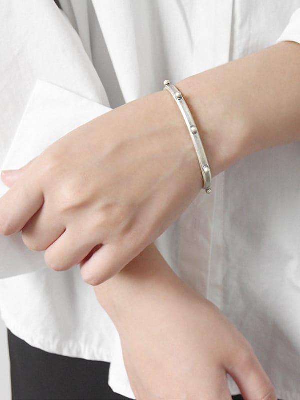 Simplified antique rivet personality open Bracelet