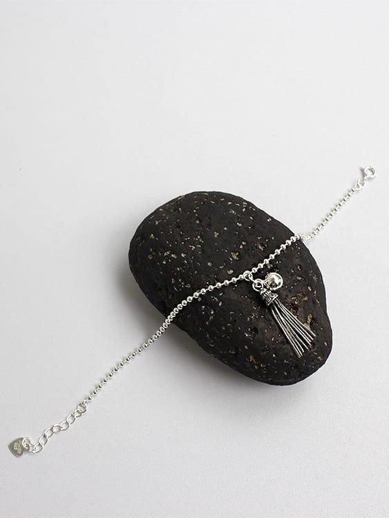 Fashion Little Tassels Tiny Beads Silver Bracelet