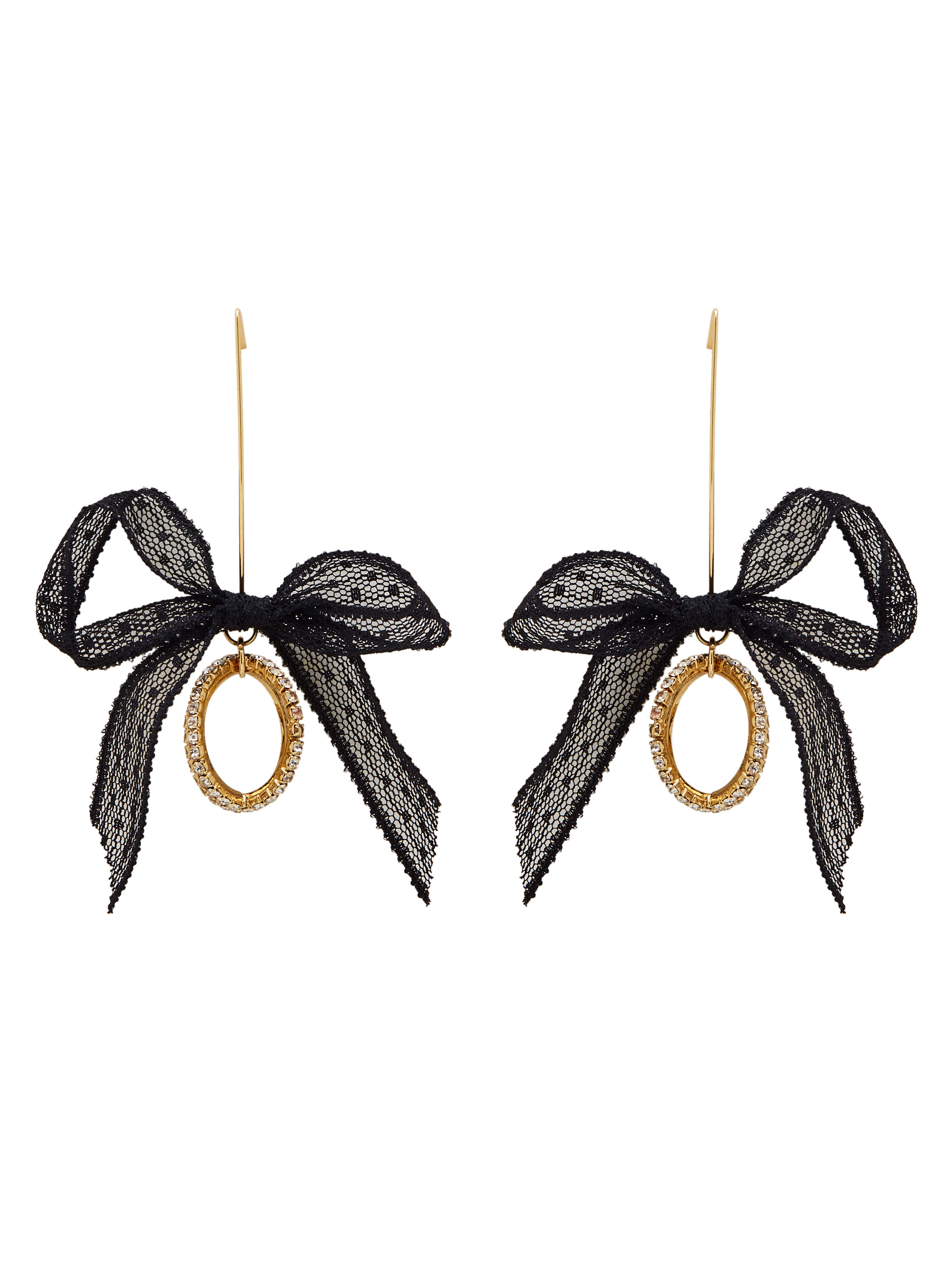 Personalized Gold Plated Zinc Alloy Rhinestone Black Drop drop Earring