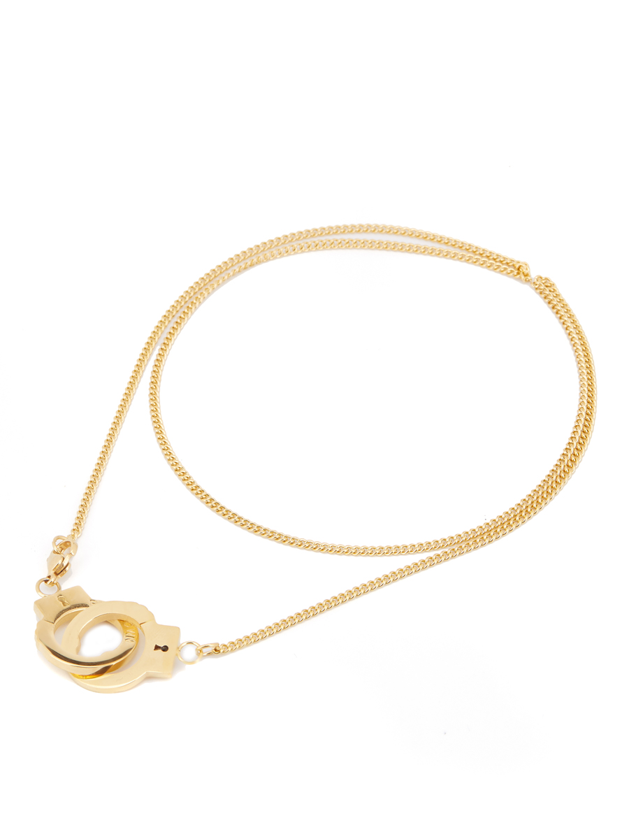 Personalized style with Gold Plated Titanium necklace