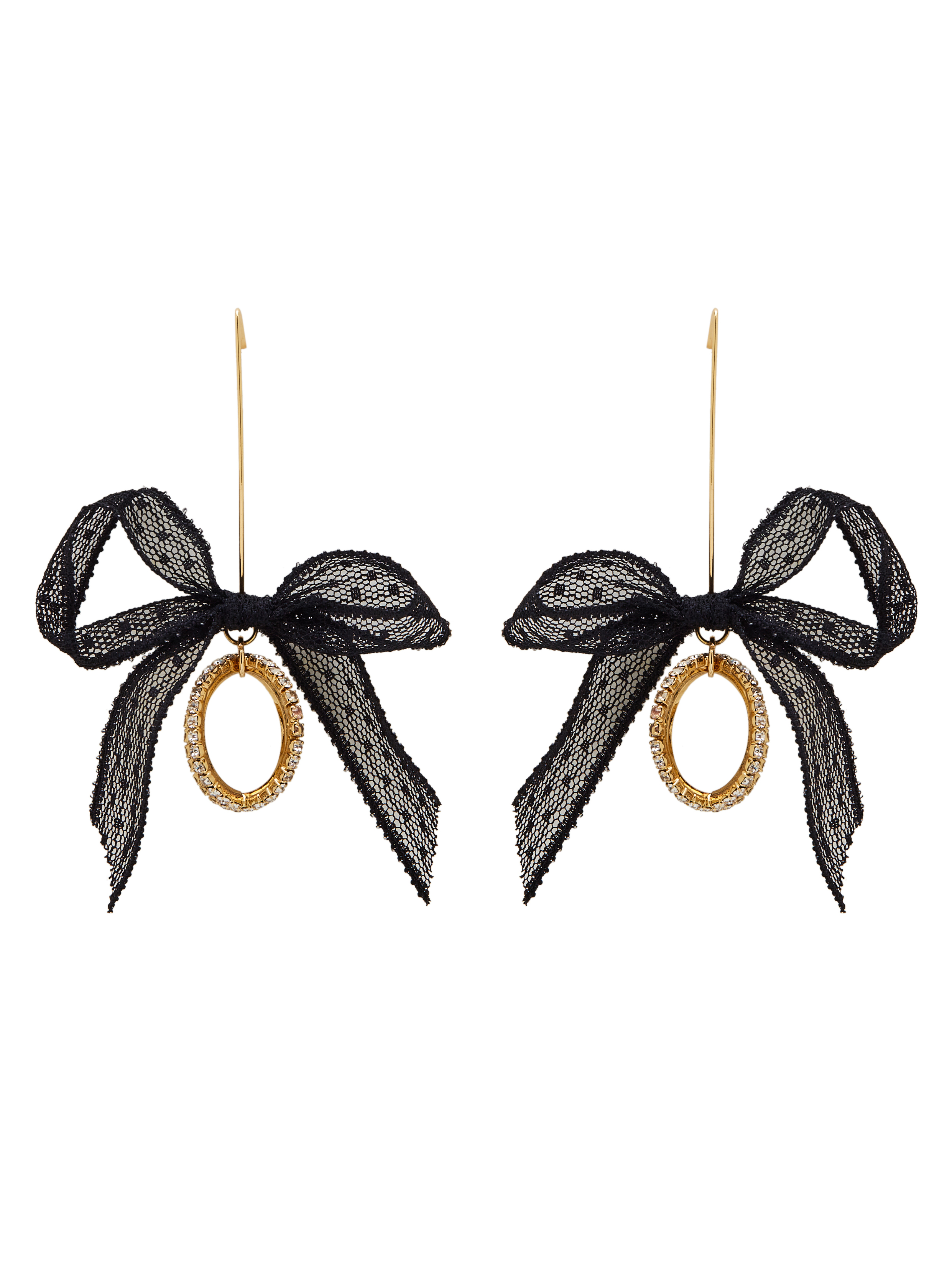 Personalized Gold Plated Zinc Alloy Rhinestone Black Drop Earring