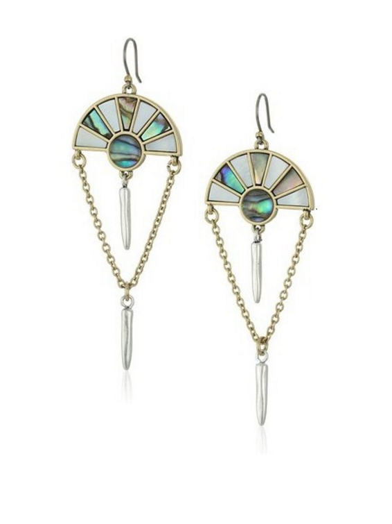 Gold Plated Zinc Alloy Personalized Shell Drop Earring