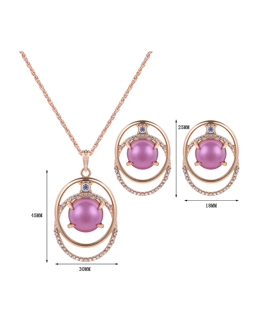 Alloy Imitation-gold Plated Fashion Artificial Stones Two Pieces ...