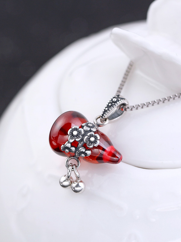 Fashion red crystal calabash women pendant wholesale online fashion red crystal calabash women pendant aloadofball Image collections