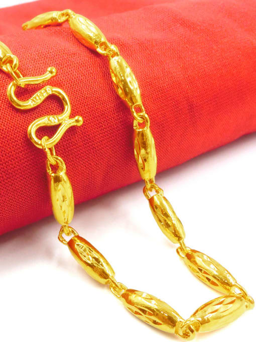 Neayou Men Delicate Gold Plated Geometric Necklace 1