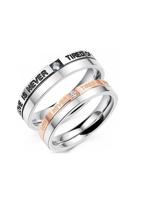 Open Sky Stainless Steel With Fashion Geometric Rings 0