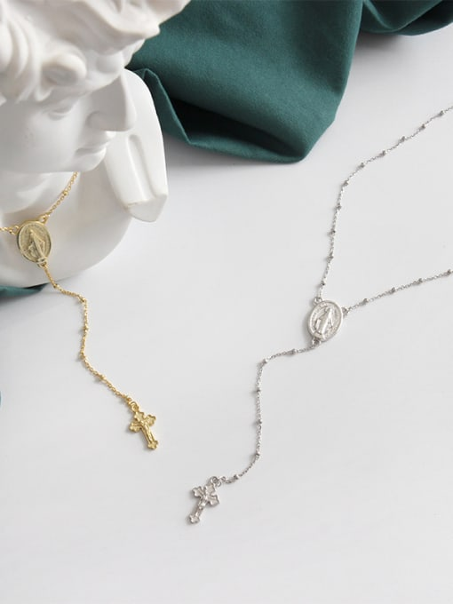 Dak Phoenix 925 Sterling Silver With 18k Gold Plated Personality Cross Necklaces 2