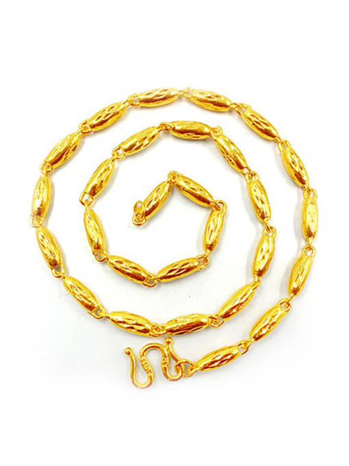 golden Men Delicate Gold Plated Geometric Necklace