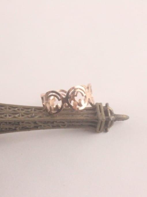 Rose Hollow Fashion Titanium Opening Ring 1